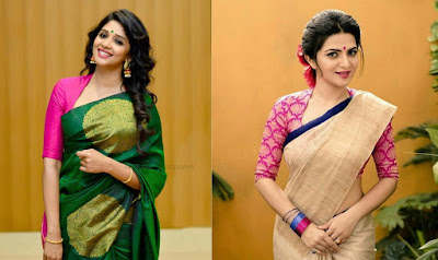 9b9bc158fdc37 35 Stylish high neck blouse designs for pattu sarees