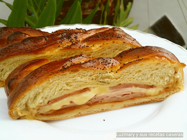 TRENZA DE PAN PIZZA ( thermomix)