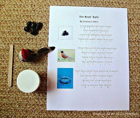Monessori Bird Poem Activity with Free Printable