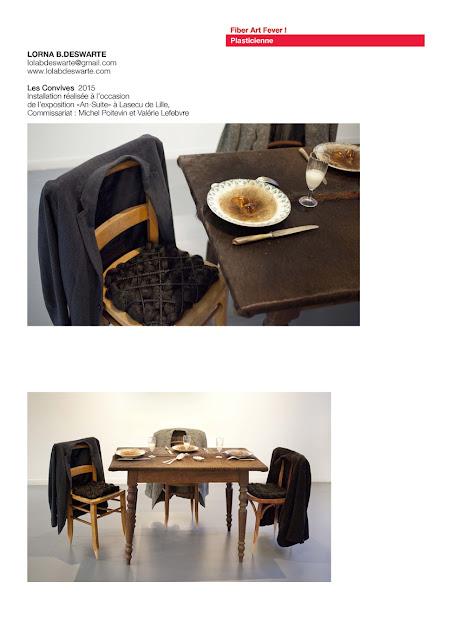 art avec cheveux, art textile contemporain, installation textile