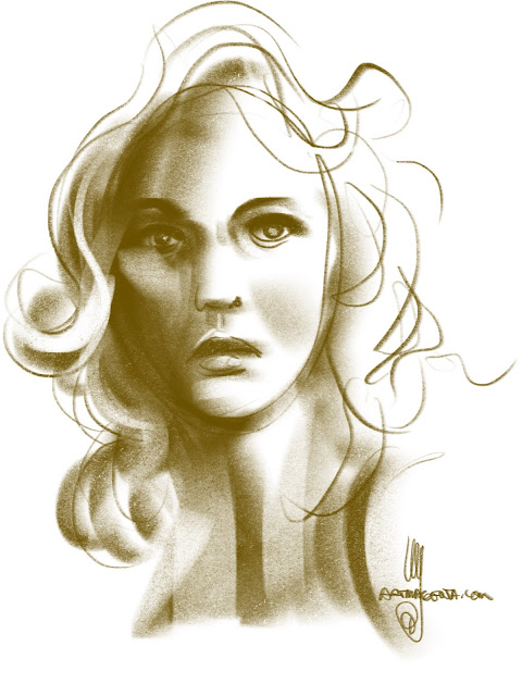 Portrait sketch by Ulf Artmagenta