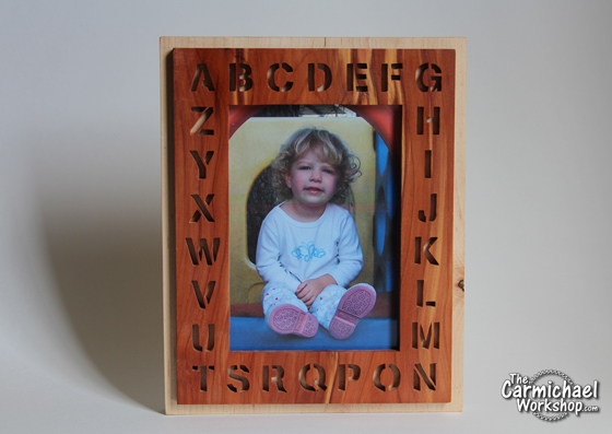 Alphabet Picture Frame by The Carmichael Workshop