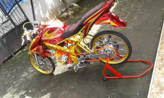 Modifikasi motor Vixion 2012  jari jari