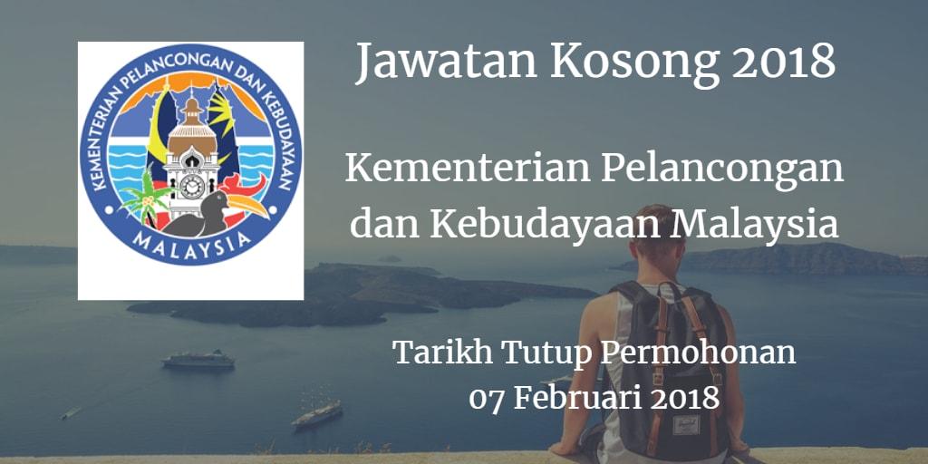 Jawatan Kosong MOTAC 07 Februari 2018