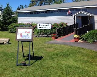 Pemaquid Art Gallery - New Easel Sign
