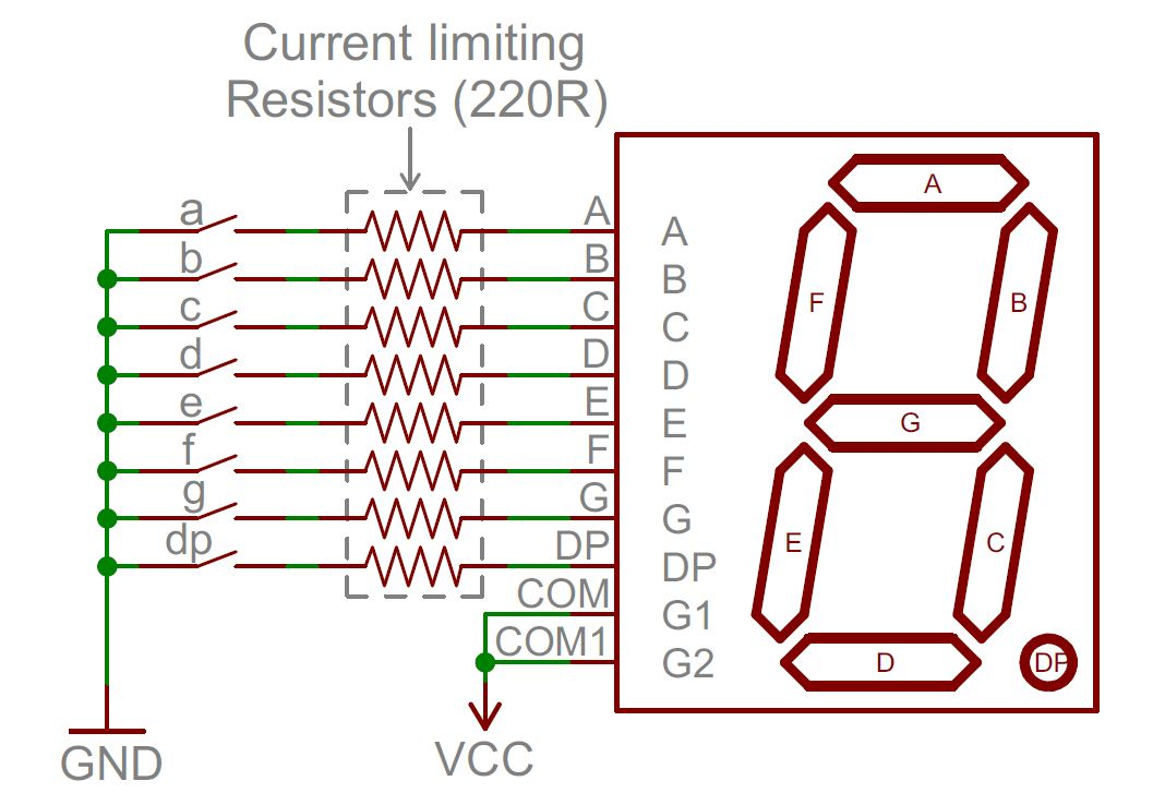 trailer 7 pole wiring diagram for 1995 gmc 1500 7 segment wiring diagram open electronics project 7 segment display #10