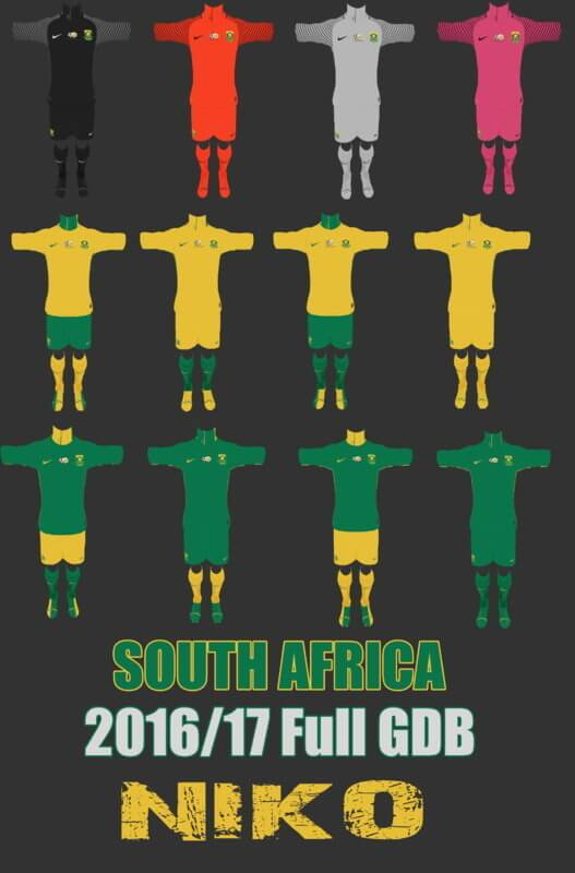 South Africa Kit 2016-2017 PES 2013