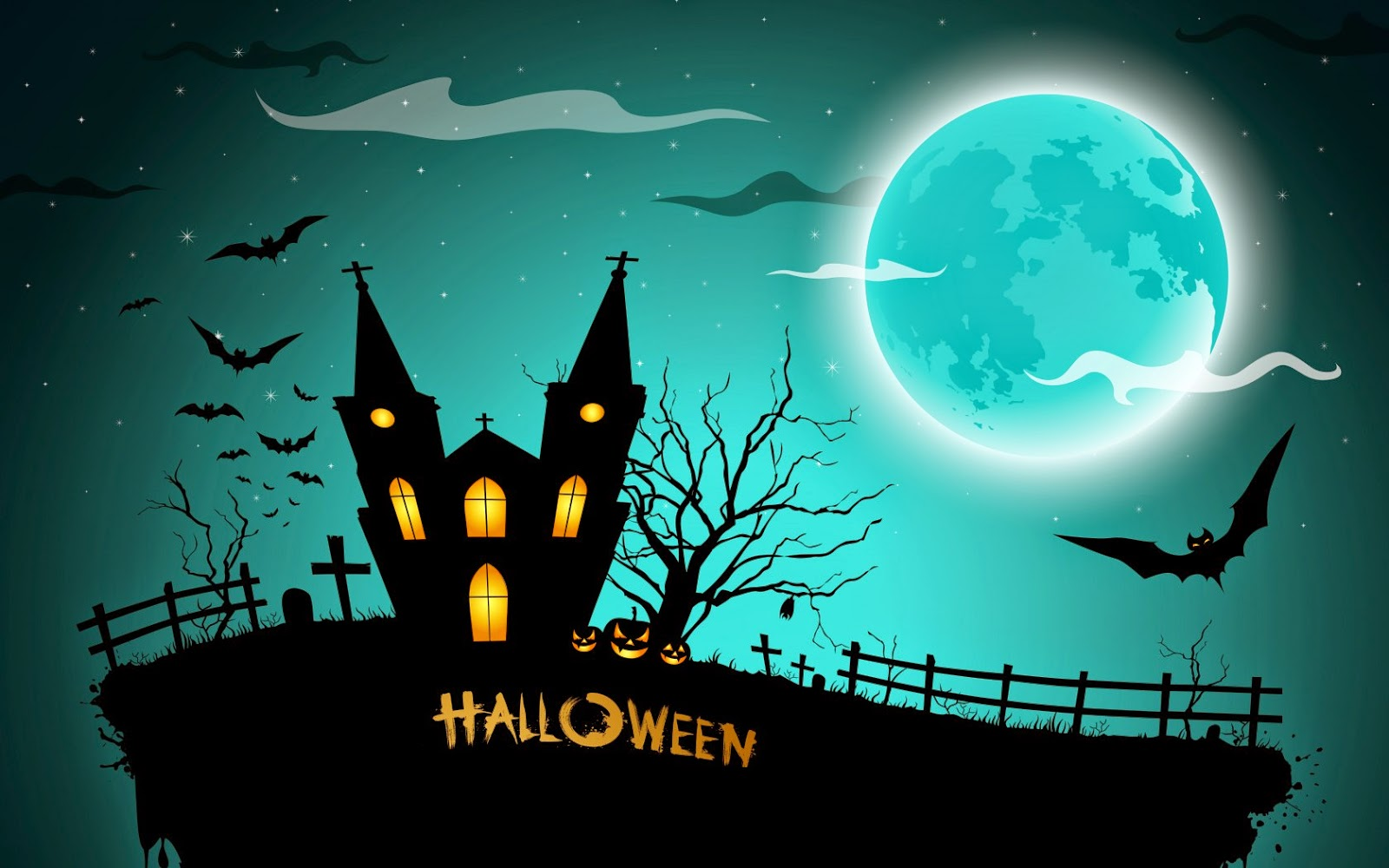 halloween theme black bg night blue wallpapers for - Halloween Which Day