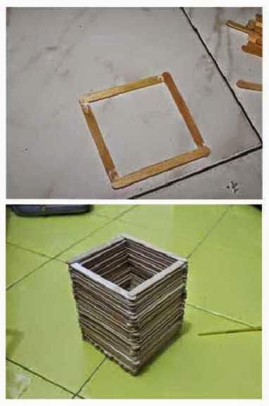 kotak pensil dari stik es krim