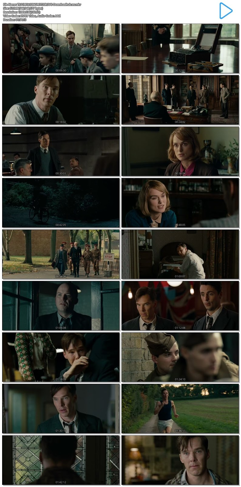 The Imitation Game 2014 Hindi Dual Audio 720p HEVC BluRay Free Download