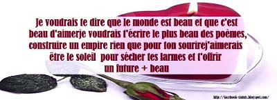 Statut facebook d'amour