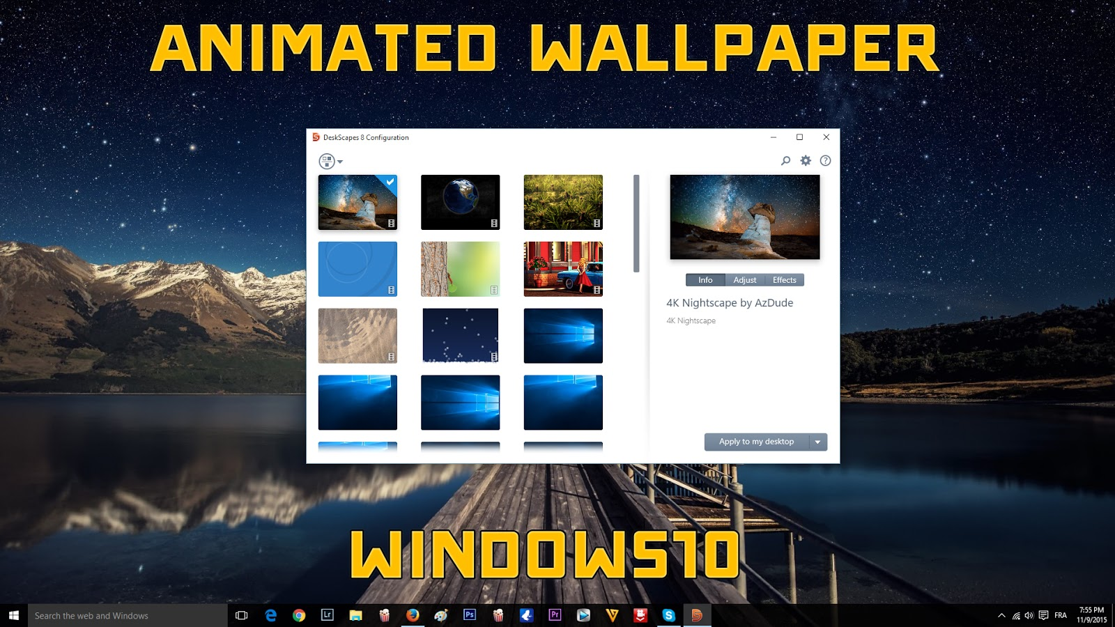 Animated desktop wallpaper windows 8 1