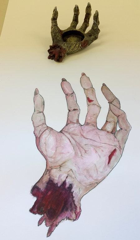 Whoopidooings: Carmen Wing - Zombie hand illustration