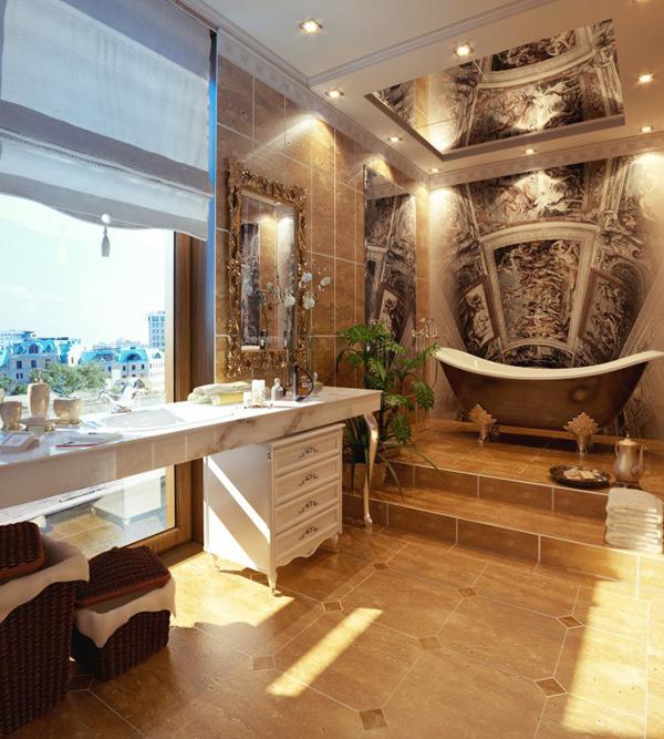 Kamar mandi nyaman ada jendela kota