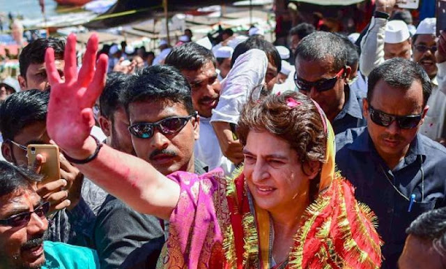 Priyanka Gandhi at Varanasi