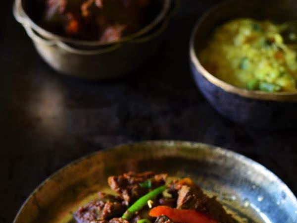 Mutton Liver Stir fry - Quick & Easy   Goat Liver Stir fry   Metey Chorchori Recipe!