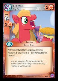 My Little Pony Big Mac, Big Eater Seaquestria and Beyond CCG Card