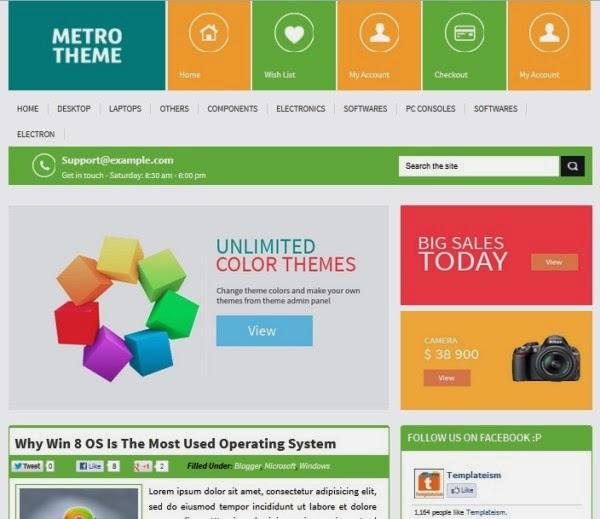 Perbedaan Metro Design dan Flat Design - Sample Metro Design inspiration