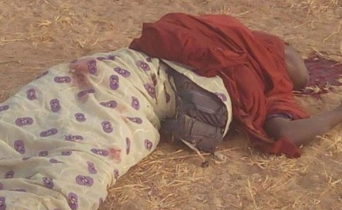 Graphic Photos: JTF Shoots Dead Four Female Suicide Bombers In Borno