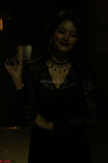 Actress Monica in spicy transparent Black Top at O Pilla Nee Valla Movie Audio Launch Feb 2017 088.JPG