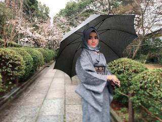 Foto Wirda Salamah Ulya Terbaru di Kyoto Jepang