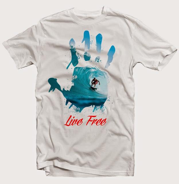 surf tshirt design