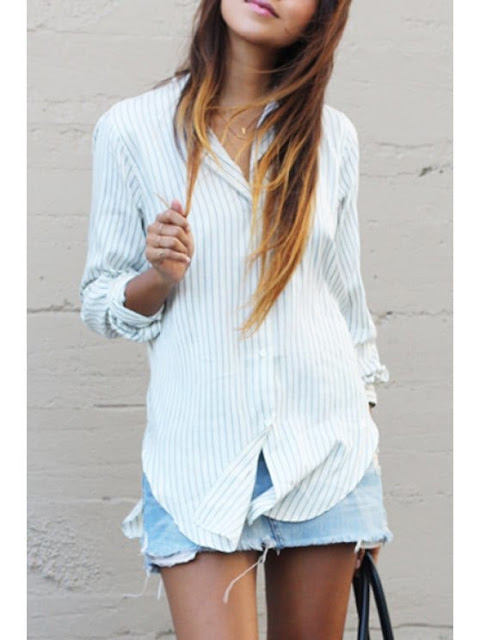Long striped shirt from Zaful