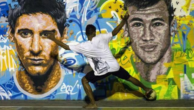 lionel messi vs neymar - imagenes de la seleccion argentina