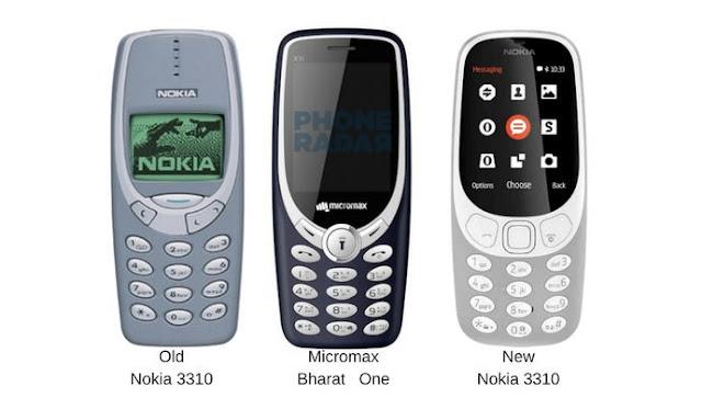 Micromax Bharat one ,  Nokia 3310