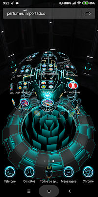 imagens da launcher aplicada no celular