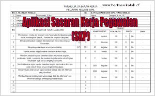 Download Aplikasi Penilaian Sarasaran Kerja Pegawaian (SKP) PNS | File Guru
