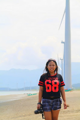 Girl Travel in Bangui Windmill, Ilocos