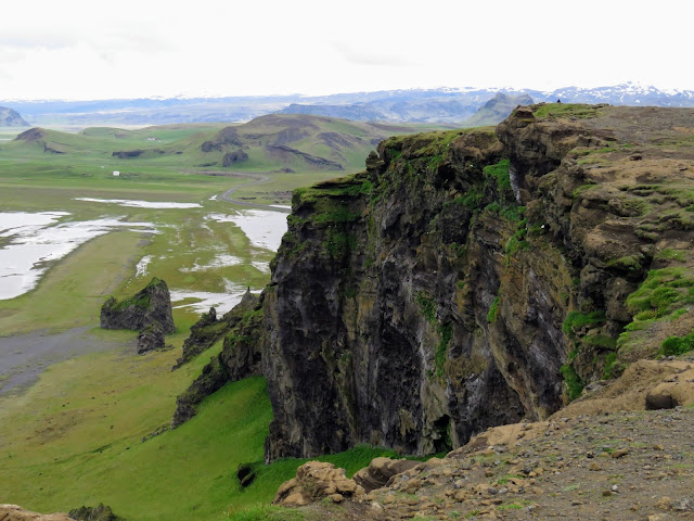 Cliffs on Dyrhólaey Peninsula along Iceland's South Coast
