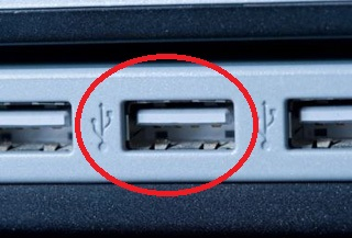 porta USB notebook