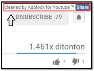 Adblock For Youtube telah Aktiv