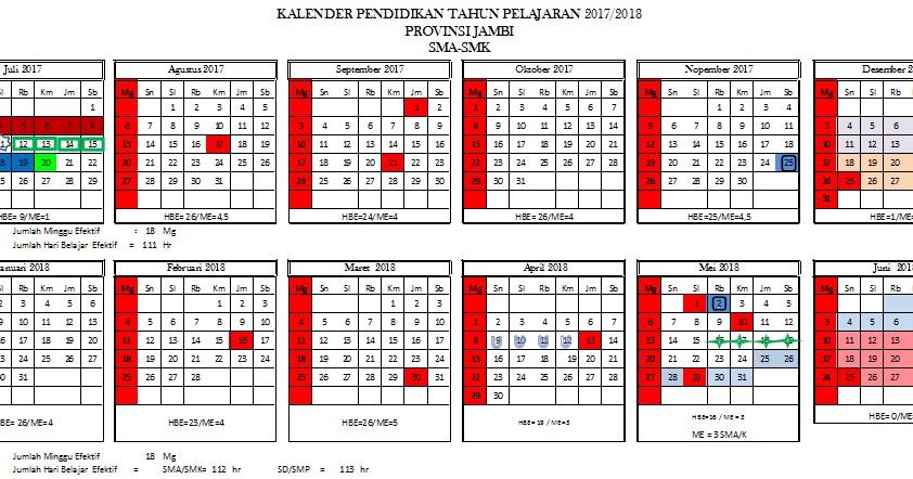 Download Kalender Pendidikan Kalpen Provinsi Jambi Tahun