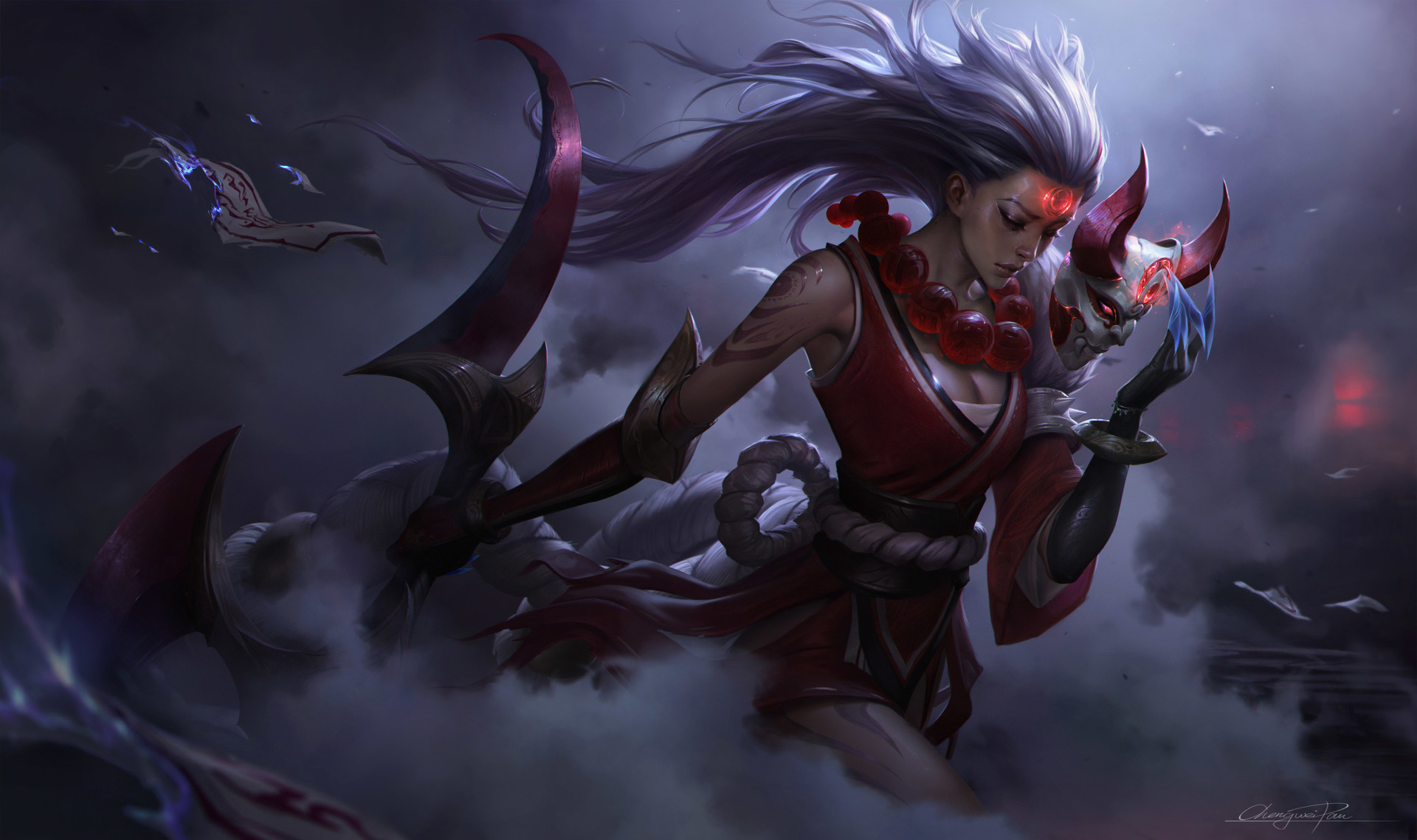 League Of Legends Blood Moon Diana Animated Wallpaper