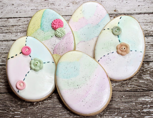 Easy Easter Egg Decorated Cookies
