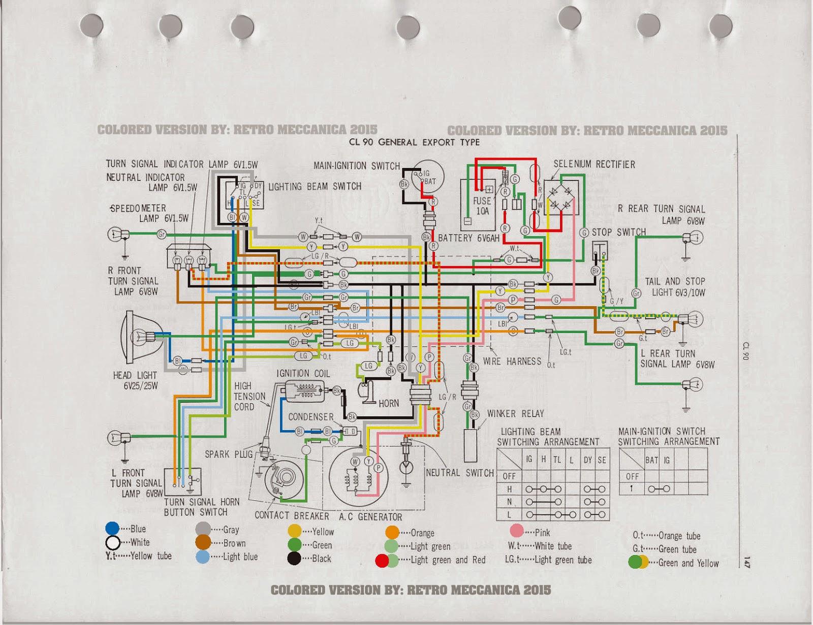 1967 Honda Ct90 Wiring Diagram Pioneer Avh P5700dvd Cl90 Cb100 Odicis