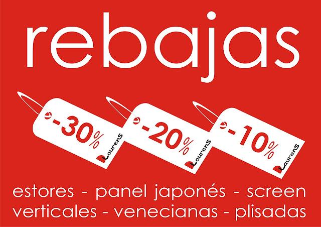 rebajas estores en Valencia - paneles - verticales - venecianas - screen
