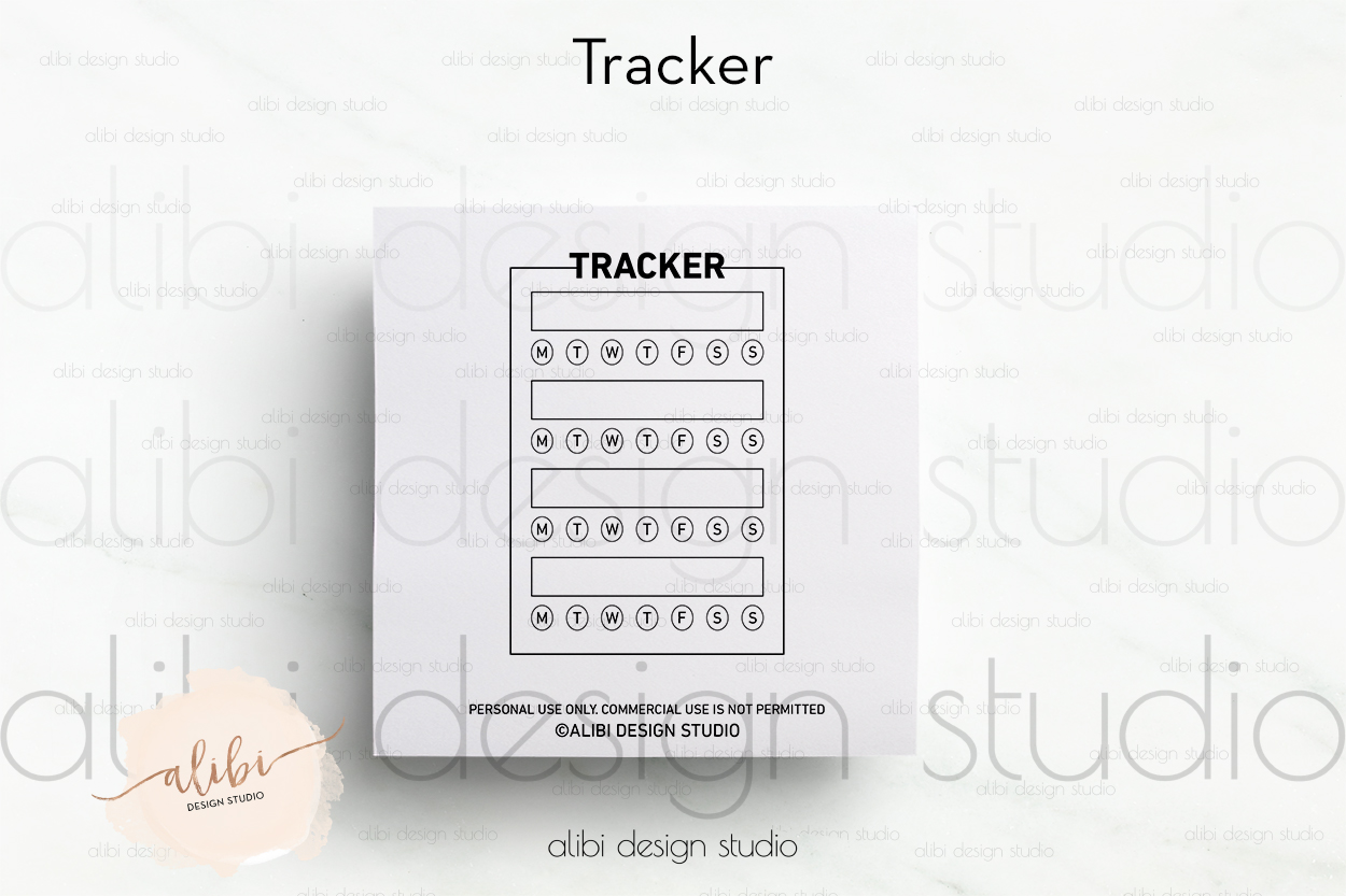 image relating to Habit Tracker Free Printable known as No cost Practice Tracker Printable - Freebie Alibi Style Studio