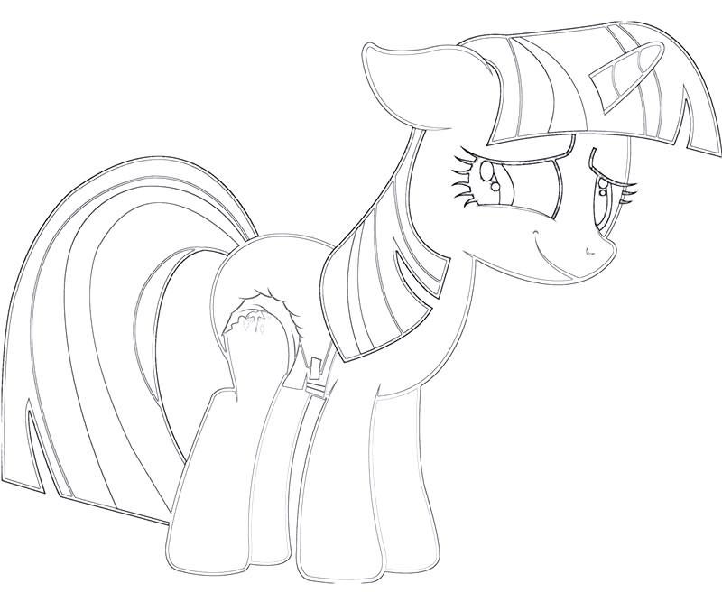 #9 Twilight Sparkle Coloring Page