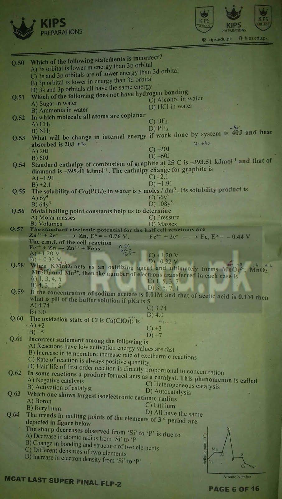 KIPS MCAT Chemistry Full Length Paper-2 3