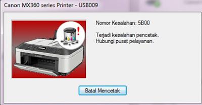 Cara Mengatasi Error 5b00 Pada Printer Canon ip2770