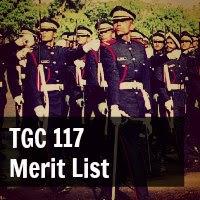 TGC 117 Merit List