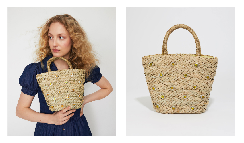 warehouse x shrimps, wareshrimps, daisy basket, basket bag
