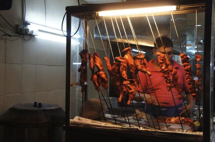 Tandoori Chicken mamak stall in Malaysia