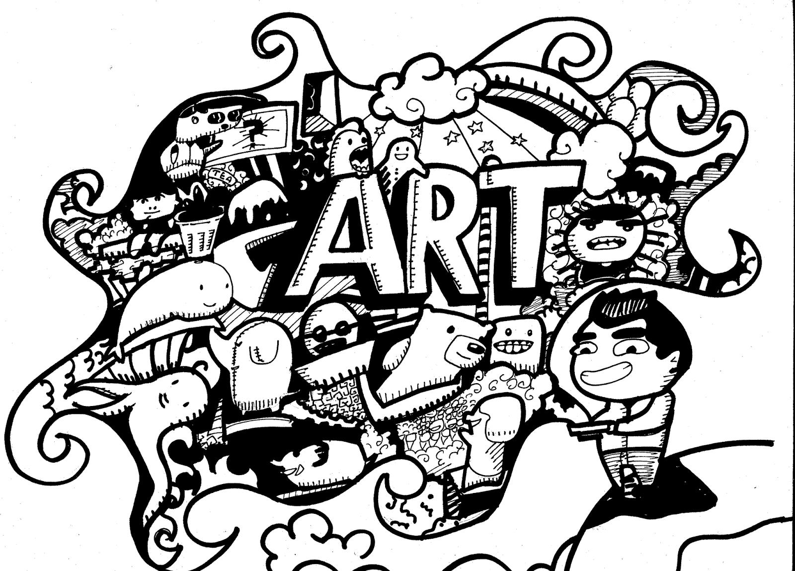 Mengenal Doodle Art  Isi Bumi