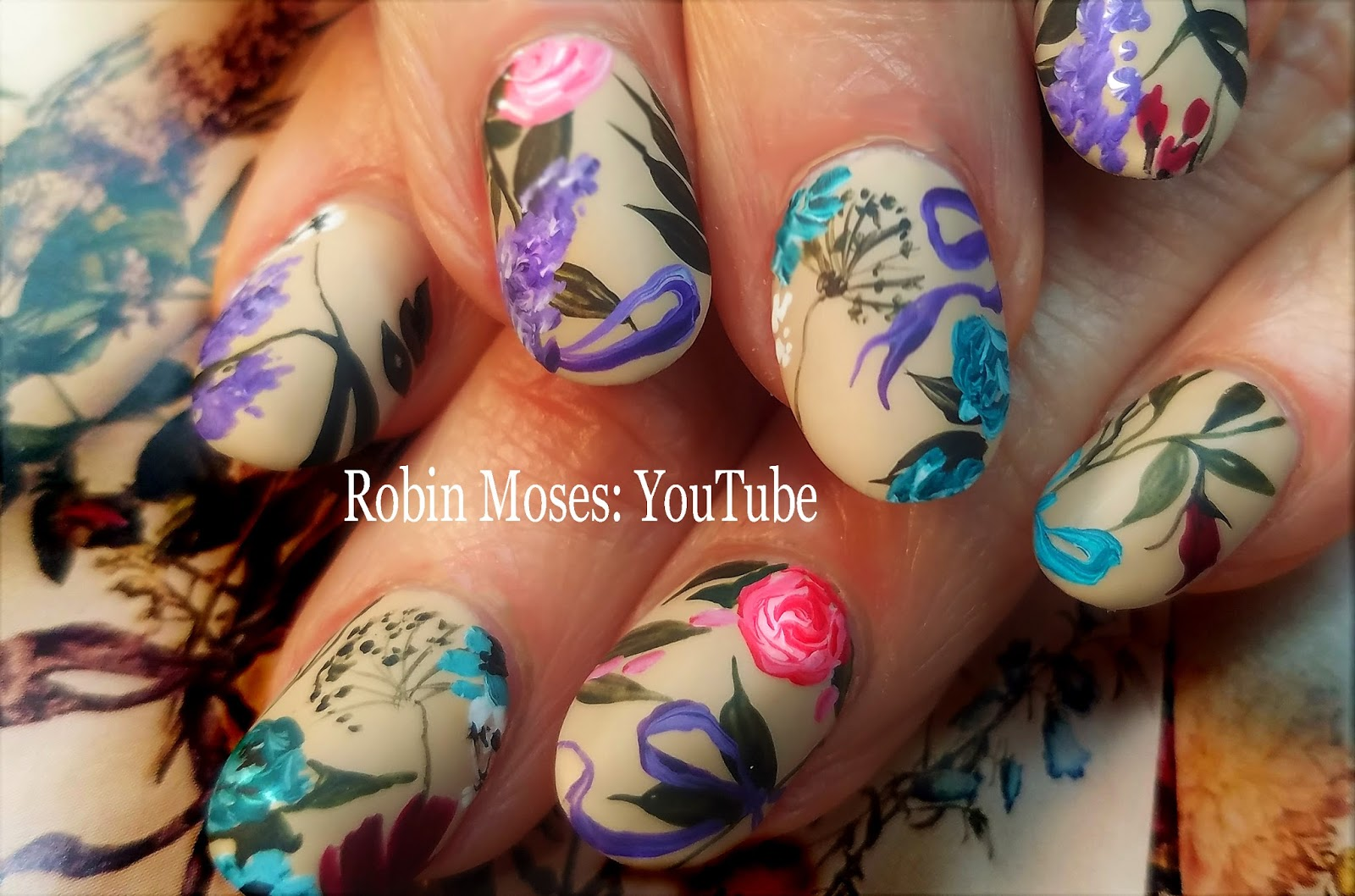 Nail Art by Robin Moses: Best Spring Nails ever! | A bouquet of ...