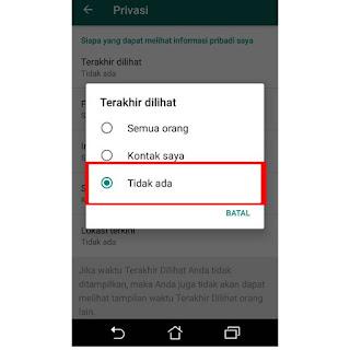 Cara menghilangkan status online pada whatsapp